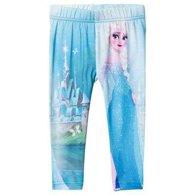 Disney Frozen Leggings, Blå 110 cm - Børnetøj - Disney