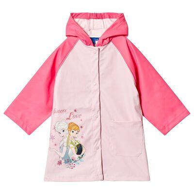 Disney Frozen Regnjakke Rosa 128 cm - Børnetøj - Disney