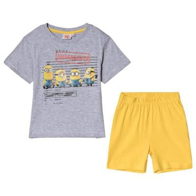 Minions Despicable Me, Pyjamas, Melange Grey/Yellow 110 cm - Børnetøj - Minions