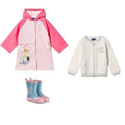 Disney Frozen Pakke Disney® Frozen Sweatshirt + Gummistøvler + Regnjakke - Børnetøj - Disney