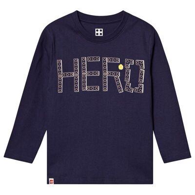 Lego Wear Lego Hero T-Shirt L/S Dark Navy 110 cm (4-5 år) - Børnetøj - Lego