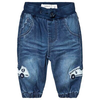 Name It Bob Denim Ajake Pant Medium Blue 62 cm (2-4 mdr) - Børnetøj - Name It