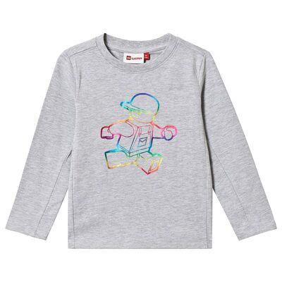 Lego Wear Tiger T-Shirt L/S Grey Melange 128 cm (7-8 år) - Børnetøj - Lego