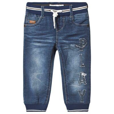 Name It Bob Pant Medium Blue Denim 80 cm (9-12 mdr) - Børnetøj - Name It