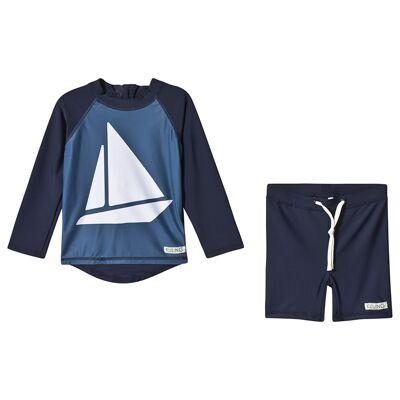 Kuling UV-Sæt Båstad Sailor Marineblå 86/92 cm - Børnetøj - Kuling