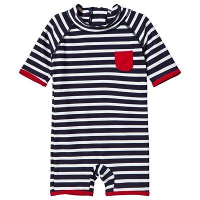 Kuling UV-Dragt Marstrand Stripe Blue 110/116 cm - Børnetøj - Kuling