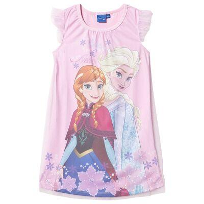 Disney Frozen Disney Frozen Ss Nightgown With Tulle White/ Sweet Lilac 128 cm (7-8 år) - Børnetøj - Disney