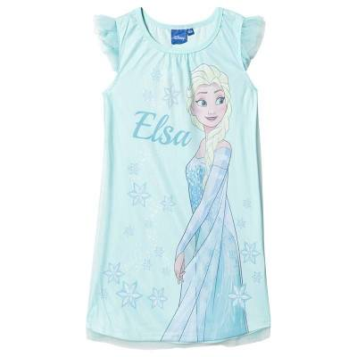 Disney Frozen Disney Frozen Ss Nightgown With Tulle White/ Clearwater 128 cm (7-8 år) - Børnetøj - Disney