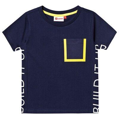 Lego Wear Tiger T-Shirt S/S Blue 128 cm (7-8 år) - Børnetøj - Lego