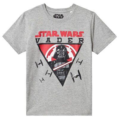 Star Wars Star Wars Ss T-Shirt Grey Melange 128 cm (7-8 år) - Børnetøj - Star Wars