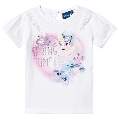 Disney Frozen Frozen T-Shirt White 7 år - Børnetøj - Disney