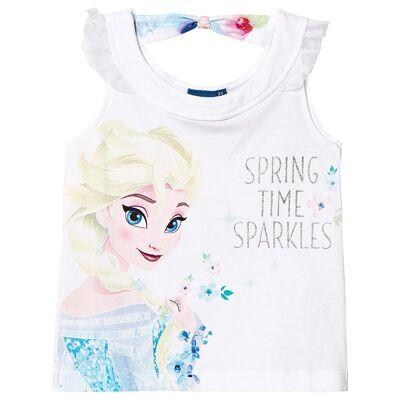 Disney Frozen Frozen T-Shirt White 6 år - Børnetøj - Disney