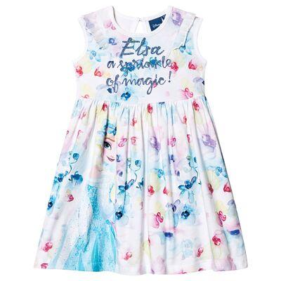 Disney Frozen Frozen Dress White 7 år - Børnetøj - Disney
