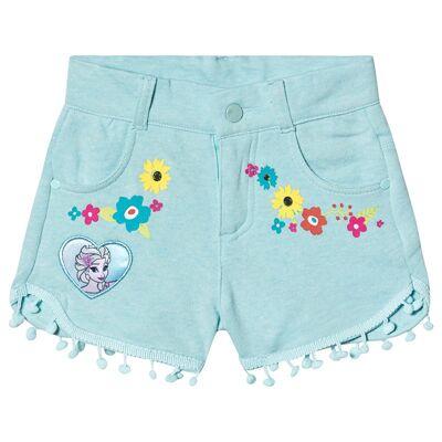 Disney Frozen Disney Frozen Shorts With Pompoms Blue Radiance Melange / Clearwater 104 cm (3-4 år) - Børnetøj - Disney