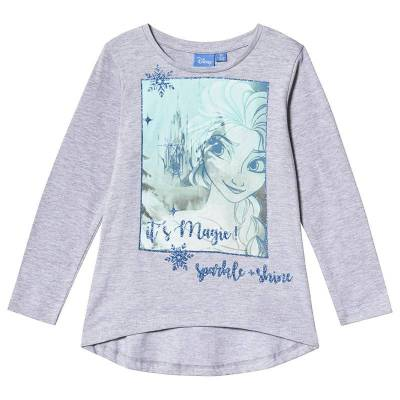 Disney Frozen Frozen LS T-Shirt Light Grey Melange 140 cm (9-10 år) - Børnetøj - Disney