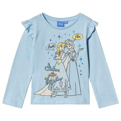 Disney Frozen Frozen LS T-Shirt Cerulean Melange 128 cm (7-8 år) - Børnetøj - Disney