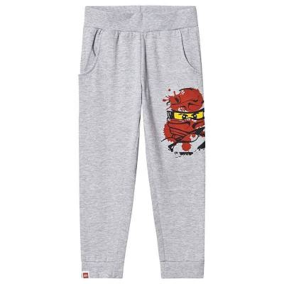 Lego NINJAGO Lego Ninjago Sweat Pants Light Grey Melange 128 cm (7-8 år) - Børnetøj - Lego