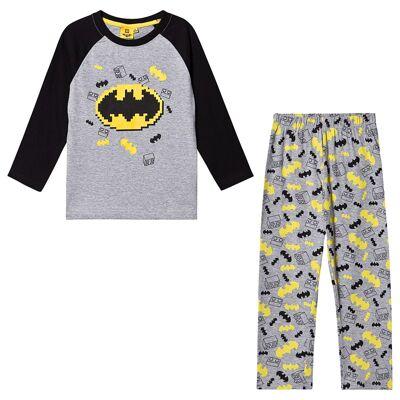 Lego Batman Lego Batman LS Pyjama Grey Melange 128 cm (7-8 år) - Børnetøj - Lego