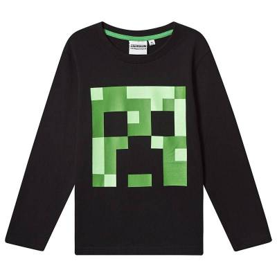 Minecraft Minecraft Ls T-Shirt Mintcraft Black 152 cm (11-12 Years) - Børnetøj - Minecraft