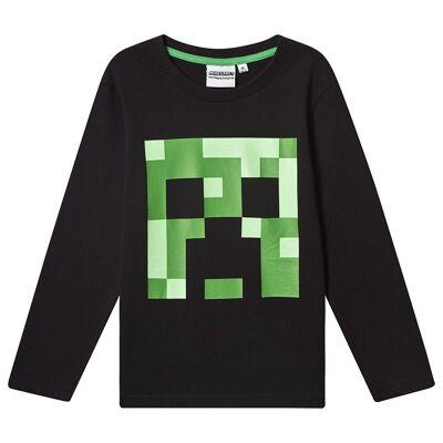 Minecraft Minecraft Ls T-Shirt Mintcraft Black 128 cm (7-8 Years) - Børnetøj - Minecraft