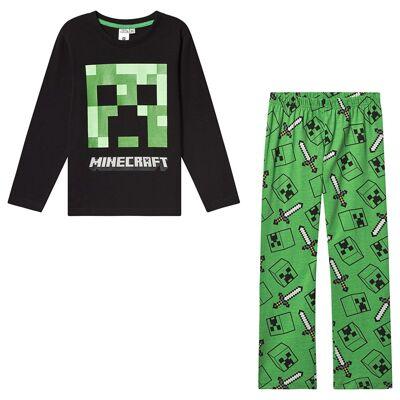 Minecraft Minecraft Ls Pyjama Mintcraft Black 140 cm (9-10 Years) - Børnetøj - Minecraft