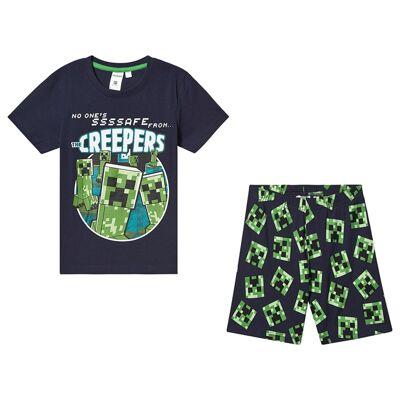 Minecraft Minecraft Ls Pyjama Mintcraft Peatcoat/Green 128 cm (7-8 Years) - Børnetøj - Minecraft