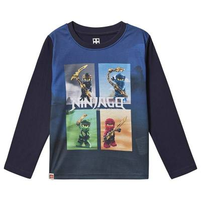 Lego Wear Ninjago T-Shirt L/S Dark Navy 122 cm (6-7 år) - Børnetøj - Lego