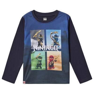 Lego Wear Ninjago T-Shirt L/S Dark Navy 110 cm (4-5 år) - Børnetøj - Lego