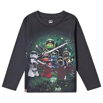 Lego Wear Ninjago T-Shirt L/S Dark Navy 128 cm (7-8 år) - Børnetøj - Lego