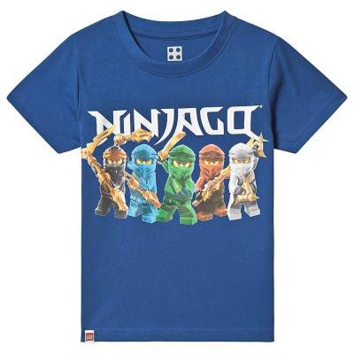 Lego Wear Ninjago T-Shirt S/S Dark Blue 128 cm (7-8 år) - Børnetøj - Lego
