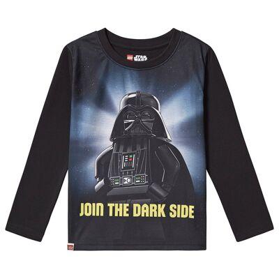 Lego Wear Star Wars T-Shirt L/S Black 128 cm (7-8 år) - Børnetøj - Lego