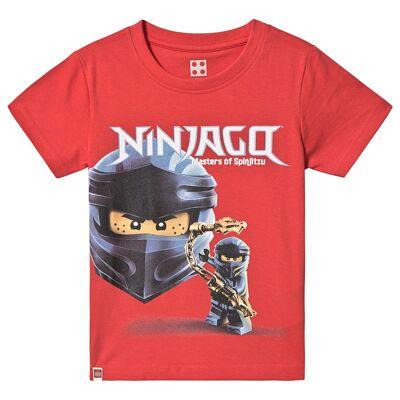 Lego Wear Ninjago T-Shirt S/S Red 128 cm (7-8 år) - Børnetøj - Lego