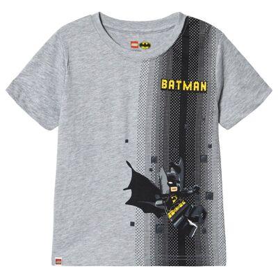 Lego Wear Batman T-Shirt S/S Grey Melange 116 cm (5-6 år) - Børnetøj - Lego