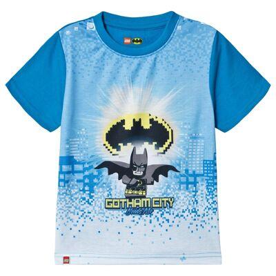 Lego Wear Batman T-Shirt S/S Light Blue 122 cm (6-7 år) - Børnetøj - Lego