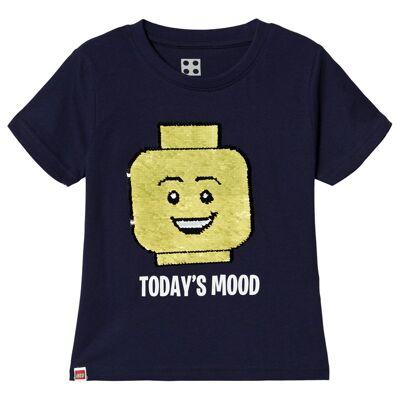 Lego Wear Iconic T-Shirt S/S Dark Navy 128 cm (7-8 år) - Børnetøj - Lego