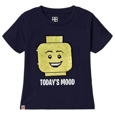 Lego Wear Iconic T-Shirt S/S Dark Navy 122 cm (6-7 år) - Børnetøj - Lego