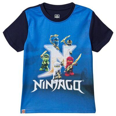 Lego Wear Ninjago T-Shirt S/S Dark Navy 122 cm (6-7 år) - Børnetøj - Lego