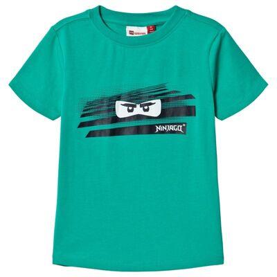 Lego Wear Tobias T-Shirt S/S Green Melange 104 cm (3-4 år) - Børnetøj - Lego