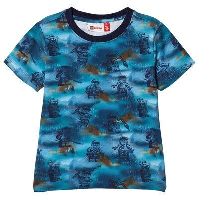 Lego Wear Tobias T-Shirt S/S Light Blue 104 cm (3-4 år) - Børnetøj - Lego