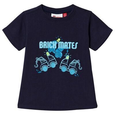 Lego Wear Tommas T-Shirt S/S Dark Navy 98 cm (2-3 år) - Børnetøj - Lego