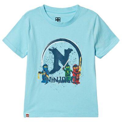 Lego Wear Ninjago T-Shirt S/S Light Blue 128 cm (7-8 år) - Børnetøj - Lego