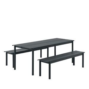 Muuto Linear Steel Set - Sort - 200x75cm