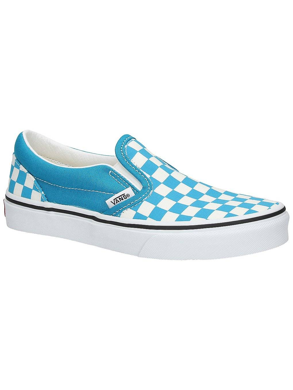 Vans Classic Checkerboard Slip-Ons blå