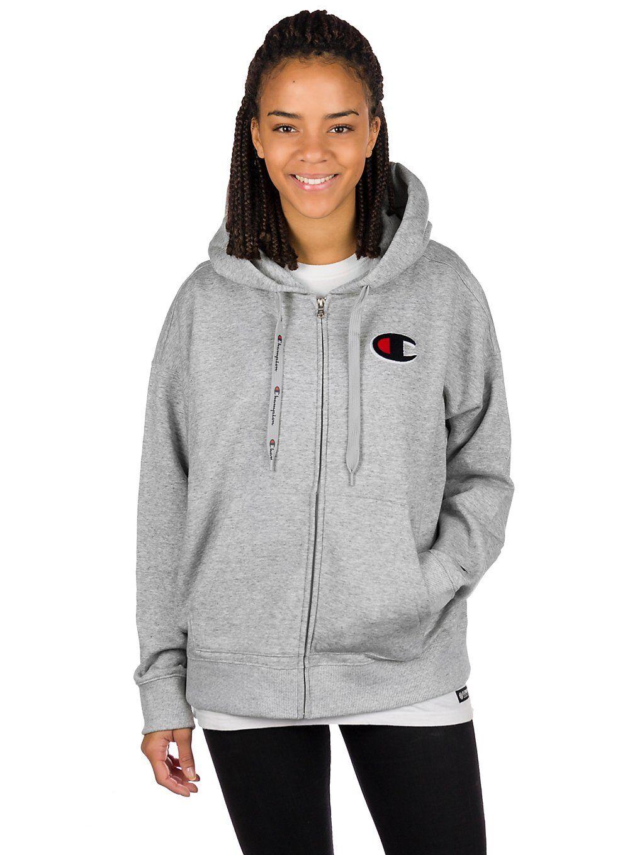 Champion Sweatshirt Full Zip Hoodie grå