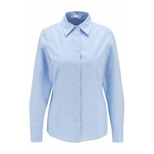 Boss Easy-iron blouse in stretch cotton