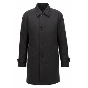 Boss Regular-fit overcoat in recycled memory fabric