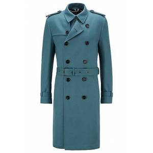 Boss Regular-fit trench coat with logo lining