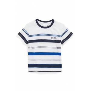 Boss Kids' T-shirt in a cotton blend with knitted stripes