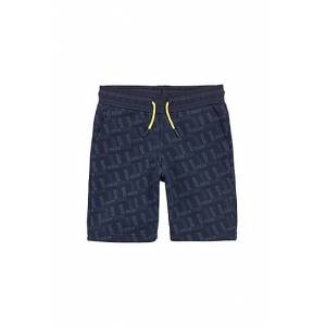 Boss Kids' jersey shorts with all-over logo print