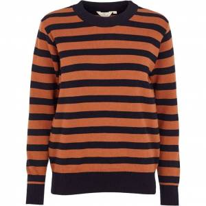 Basic Apparel Sweater, Uma Stripe - Navy